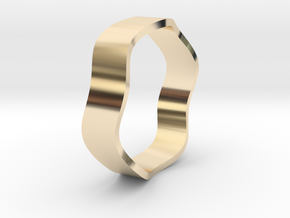 Sine Ring Flat 18mm in 14K Yellow Gold