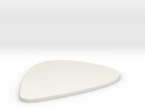 Guitar Pick 0,75 mm in White Natural Versatile Plastic