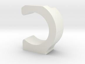 Magnet Simple ANELLO45mm in White Natural Versatile Plastic