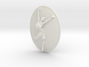 Joyful Dancer Small Pendant No Circle in White Natural Versatile Plastic
