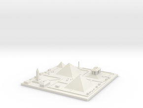 Great pyramids of Giza 7''x7'' in White Natural Versatile Plastic