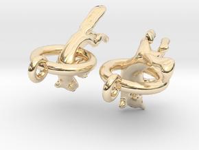Fox Earrings in 14K Yellow Gold