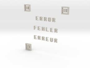 ERROR FEHLER ERREUR QR CODE in Natural Sandstone