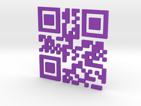 Bitcoin QR Code in Purple Strong & Flexible Polished