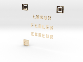 ERROR FEHLER ERREUR QR CODE in 14K Yellow Gold