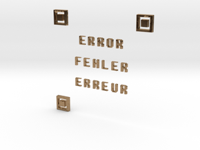 ERROR FEHLER ERREUR QR CODE in Natural Brass