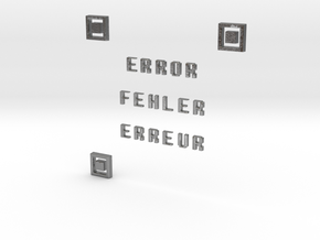 ERROR FEHLER ERREUR QR CODE in Natural Silver