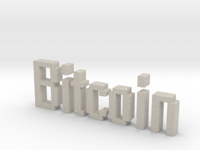 Bitcoin 3D in Natural Sandstone