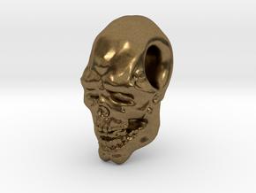 FridayThe13thPainted Joker Skull in Natural Bronze