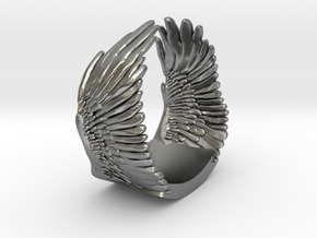 Wings Ring in Natural Silver