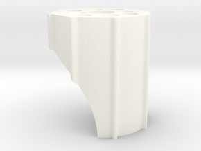 Wing Wing Z84 Motorhalter V2 in White Processed Versatile Plastic