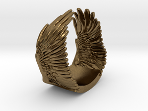 Wings Ring in Natural Bronze