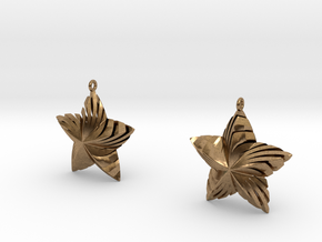 Tortuous Stars Earrings in Natural Brass