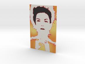 Donna Portrait - flat- 4in in Full Color Sandstone