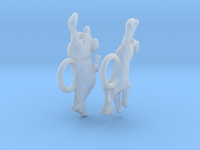 Running Horse Earrings in Smooth Fine Detail Plastic