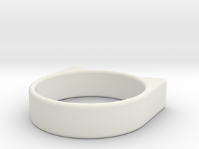 Anillogato in White Natural Versatile Plastic