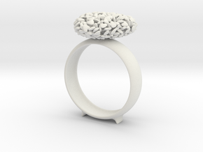 365 Hearts Napkin Ring in White Strong & Flexible