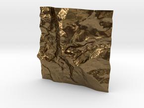 3'' Longs Peak Terrain Model, Colorado, USA in Natural Bronze