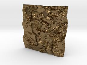 3'' Mt. Whitney Terrain Model, California, USA in Natural Bronze