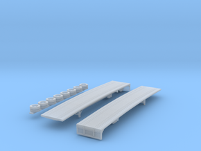 1:160 N Scale MAC 48' Spread Axle Flatbed in Smooth Fine Detail Plastic