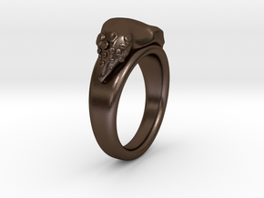 GnOOf-ring: inside diameter 19,3mm in Polished Bronze Steel