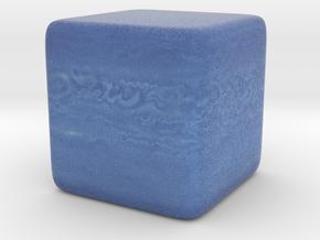 Cube Planet : Neptune, 1 inch in Full Color Sandstone
