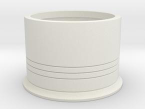 Shotshotglass Base in White Natural Versatile Plastic