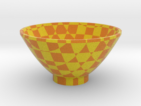DRAW bowl - cube matrix in Full Color Sandstone