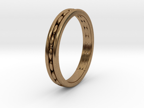 wedding ring design No.278 of 365 days in Natural Brass
