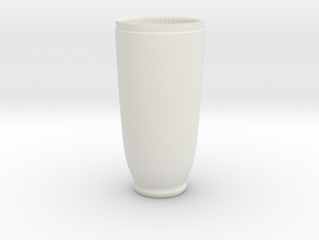 Shotgunshotglass Ceramic in White Natural Versatile Plastic