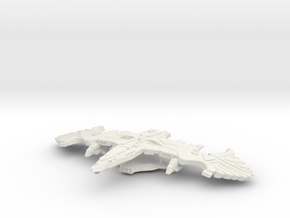 Battlehawk Class Battleship in White Strong & Flexible