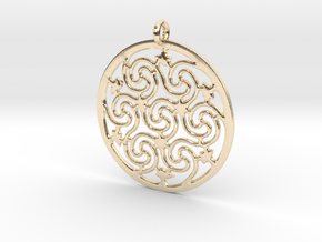 Celtic Seven Spiral Pendant in 14K Yellow Gold