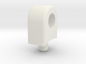 Skid Padeye - Lateral 3mm Hole in White Natural Versatile Plastic