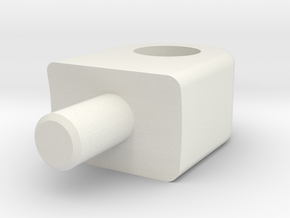 Skid Pad Eye - Logitudenal in White Natural Versatile Plastic