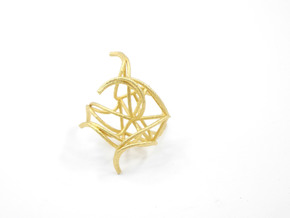 Aster Ring (Large) Size 9 in Polished Gold Steel