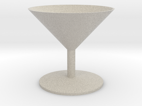 Martini Glass in Sandstone