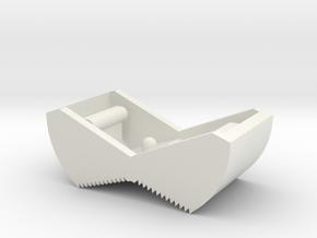 Switch Cover, Klixon 20TC (v0.5) Textured Front in White Natural Versatile Plastic