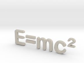 E=mc^2 3D C in Natural Sandstone