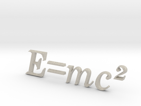 E=mc^2 3D A in Natural Sandstone