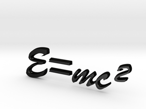 E=mc^2 3D B in Matte Black Steel