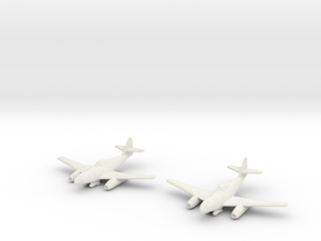 1/144 Messerschmitt Me-262A-2a/U2 (x2) in White Natural Versatile Plastic