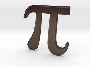 PI 3D in Polished Bronze Steel