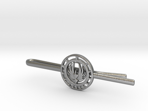 Battlestar Galactica Tie Clip   in Natural Silver