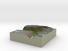 Terrafab generated model Mon Jun 23 2014 21:23:09  in Full Color Sandstone
