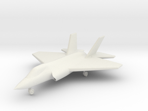 1/285 (6mm) F-35C w/Landing Gear in White Natural Versatile Plastic