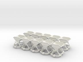0n16.5 Skip riveted body round axlebox X10 in White Natural Versatile Plastic