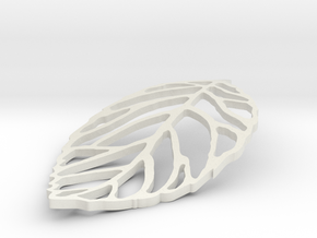 Leaf Outline in White Strong & Flexible