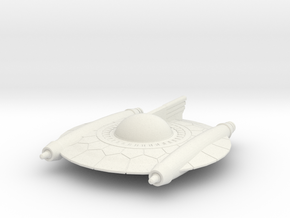 Selenite Attack Saucer in White Natural Versatile Plastic