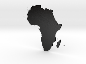 Africa 3D Design in Matte Black Steel