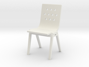 1:24 Modwood Chair (Not Full Size) in White Strong & Flexible